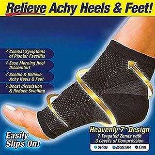 Ezonedeal Foot Angel Compression Socks Foot Sleeve Plantar Arthritis Sore Achy Heel Pain Anti Fatigue Socks for Ankle Swel...