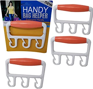 Grocery Bags Ergonomic Handle | Carrier Grip Multiple Shopping Bag 3 Each Holder (4 Pack)