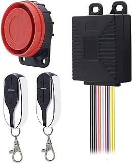 TLU-Kaxu - 12V Motorcycle Anti-Theft Device Universal Double Remote Control Wireless Intelligent Alarm System Scooter Safety Alarm