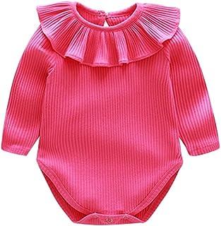 Rolayllove Newborn Baby Girls Oneies Sleeveless Romper Bodysuit Jumpsuit One-Piece Summer Clothes