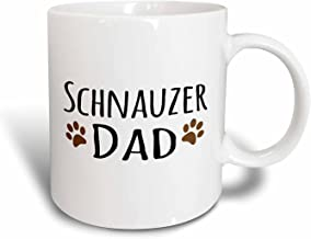 Saxton (mug_153977_2) Schnauzer Dog Dad - Doggie by breed - muddy brown paw prints - doggy lover - proud pet owner love - Ceramic Mug, 11oz