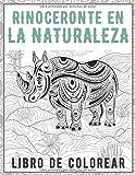 Rinoceronte en la naturaleza - Libro de colorear