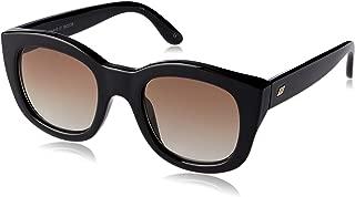 LE SPECS Women's Runaways LSP1902138  Wayfarer Sunglasses,Black,50 mm