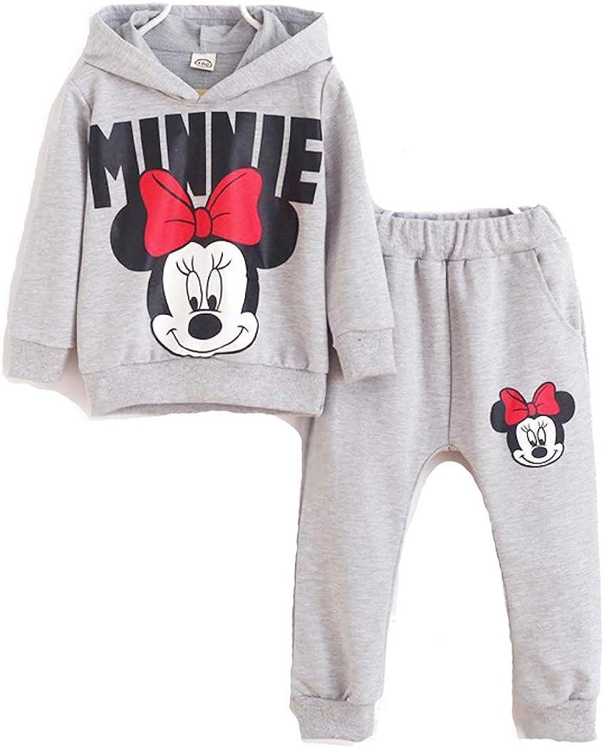 Minnie Mouse 2 Piece Set Girls Kid (Hoodie Shirt, Pants) Fall we