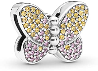 Reflexions Bedazzling Butterfly 925 Sterling Silver Clip Charm - 797864CZM