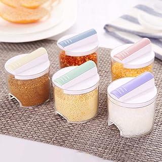 Conjunto de tanques de condimentos apilables de 5 piezas Cajas de condimentos de cocina de grado alimenticio saludable Ollas de condimentos Sartén de pimienta, China