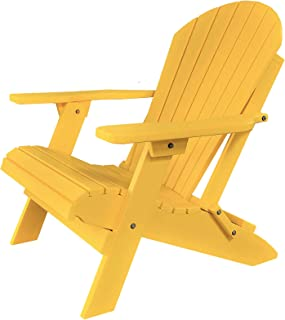 DURAWEATHER POLY Classic King Size Folding Adirondack Chair (Lemon Yellow)
