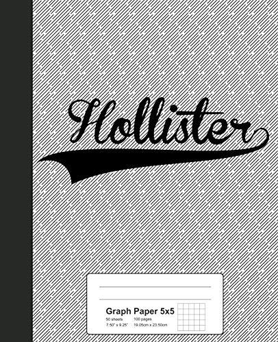 Graph Paper 5x5: HOLLISTER Notebook (Weezag Graph Paper 5x5 Notebook, Band 3030)