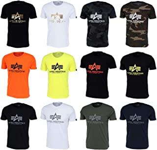 ALPHA INDUSTRIES Men's Basic T-Shirt Reflective Print