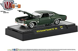 M2 Machines 1:64 Detroit Muscle Release 48 1970 Chevrolet Chevelle SS 454 Green
