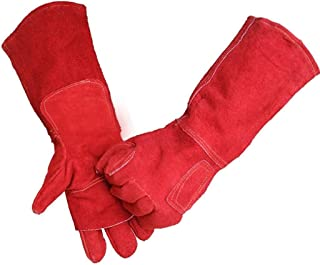 FJFSC Heavy-Duty Welding Gloves/Wear-Resistant Insulation Labor Protection Long Gloves