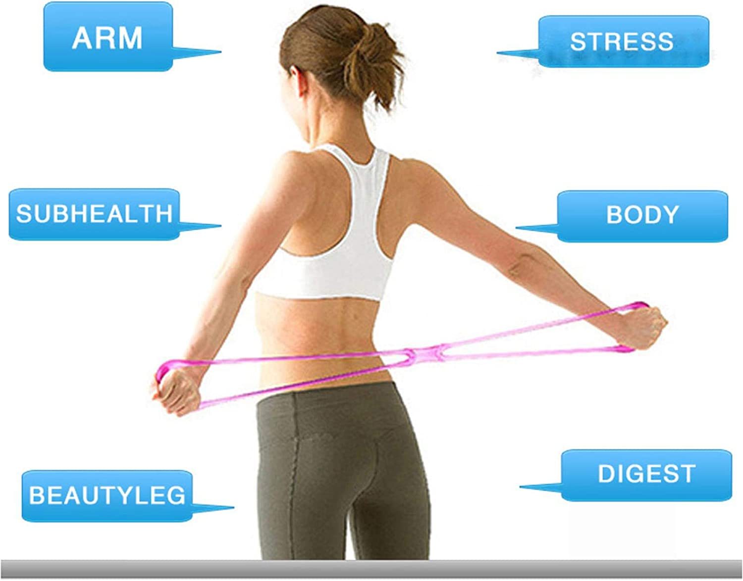 ZLDA Yoga Rally Bands Silicone Resistance Loop Exercise Bands Portable Highly Elastic Exercise Cord for Stretching and Fitness