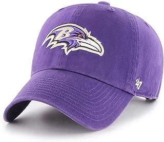 '47 NFL Baltimore Ravens Brand Clean Up Adjustable Hat