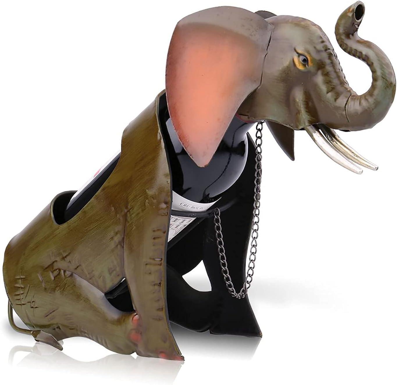 Elephant Wine Rack Max 47% OFF Metal Luxury goods Animal Classic Holder Bottle Singl