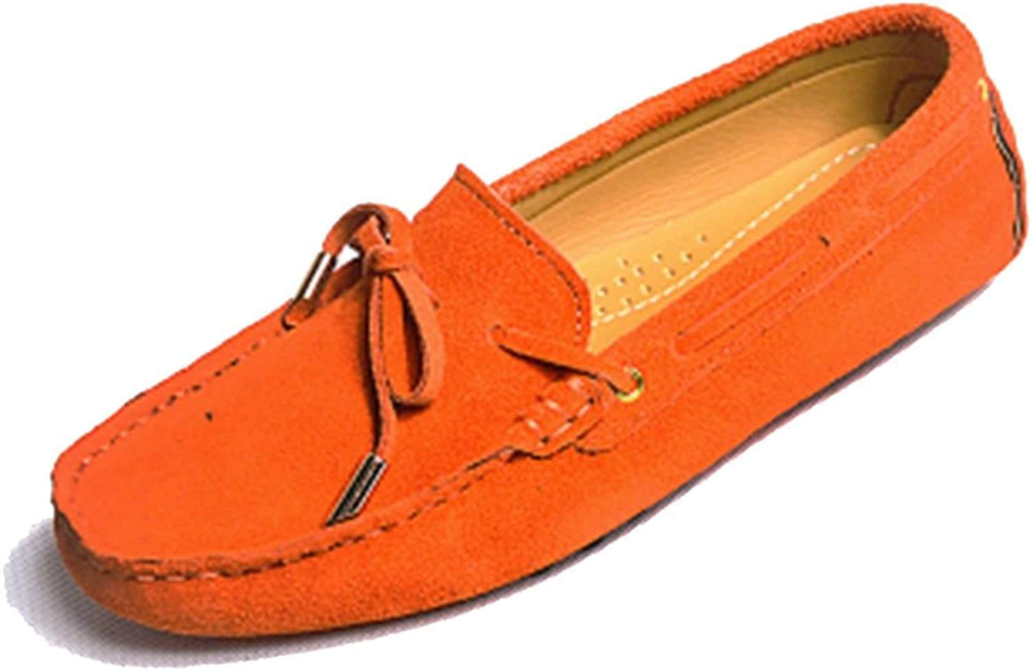 LL STUDIO Womens Casual Bowknot Driving Walking Penny Loafers Flats Boat shoes