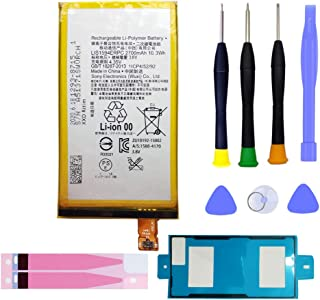 MUKUZI バッテリー Xperia Z5 Compact SO-02H 互換電池バッテリー LIS1594ERPC バックパネルに専用粘着テープ+精密工具付き