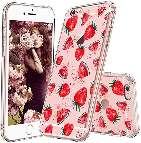 MOSNOVO iPhone 6 Plus Case Watermelon and Strawberry Pattern Clear Design Transparent Plastic product image