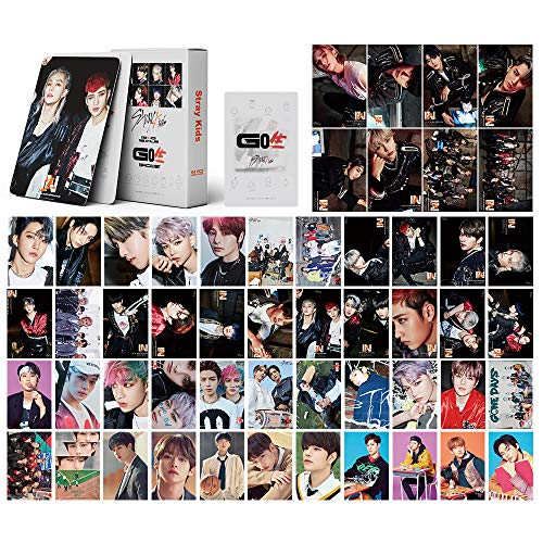 Kpop Stray Kids Lomo Cards 54Pcs GO Life New Album Cards Stray Kids Postcard StrayKids Card Poster Photocards Fans Gift