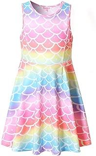 Áo quần dành cho bé gái – Girls Unicorn Dresses Sleeveless Summer Swing Casual Clothes for Kids
