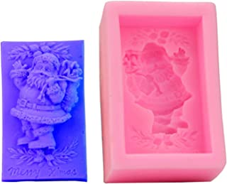 FantasyDay Christmas Santa Silicone Cake Mold Chocolate Sugarcraft Decorating Fondant for Your Soap, Mini Teacake, Fondant, Candy, Ice Cube, Candy, Cookie, Gummy and More #3