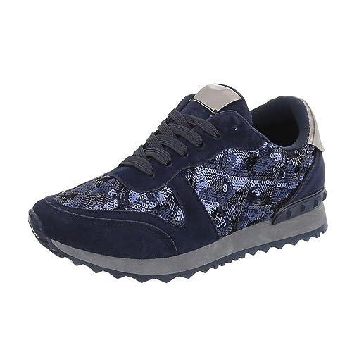 b814c771cf1034 Ital-Design Damenschuhe Freizeitschuhe Sneakers Low
