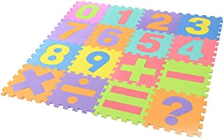 ☀ Dergo ☀Letter mat,16Pcs Digital EVA Floor Game Pad Baby Room Bubble Puzzle