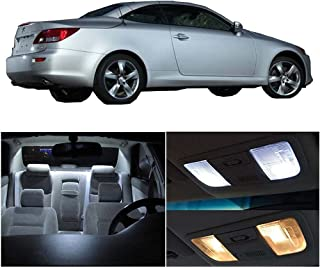 SCITOO 14Pcs White Interior LED Light Package Kit Replacement Bulbs Fits for Lexus IS250 IS350 ISF 2006-2014