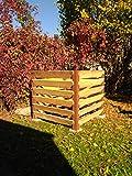 Compostiera dal design ruggine MENOVUS XXL, design moderno, capacità 1530 litri, robusta struttura...