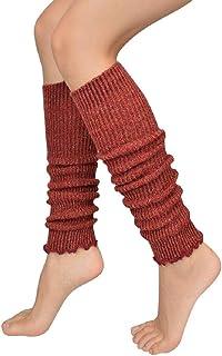 Mode Frauen Mädchen Winter Lange Beinlinge Stricken Häkeln Leggings Strümpfe  gn