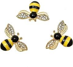 Pomeat 20pcs Yellow Honeybee Charms Pendants Jewelry Making Accessory