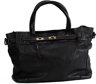 BZNA Bag Mila schwarz vintage Italy Designer Business Damen Handtasche Ledertasche Schultertasche Tasche Leder Shopper Neu