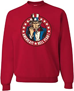 America Hell Yeah Sweatshirt Uncle Sam Patriotic Stars and Stripes Sweater