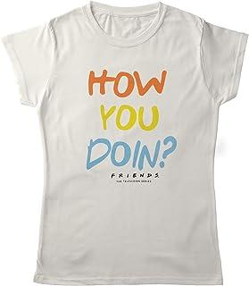 Planet Superheroes Friends Womens T-Shirt - How You Doin (White)