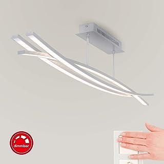 Briloner Leuchten – Lámpara de techo LED, regulable, 3 x LED/6 W