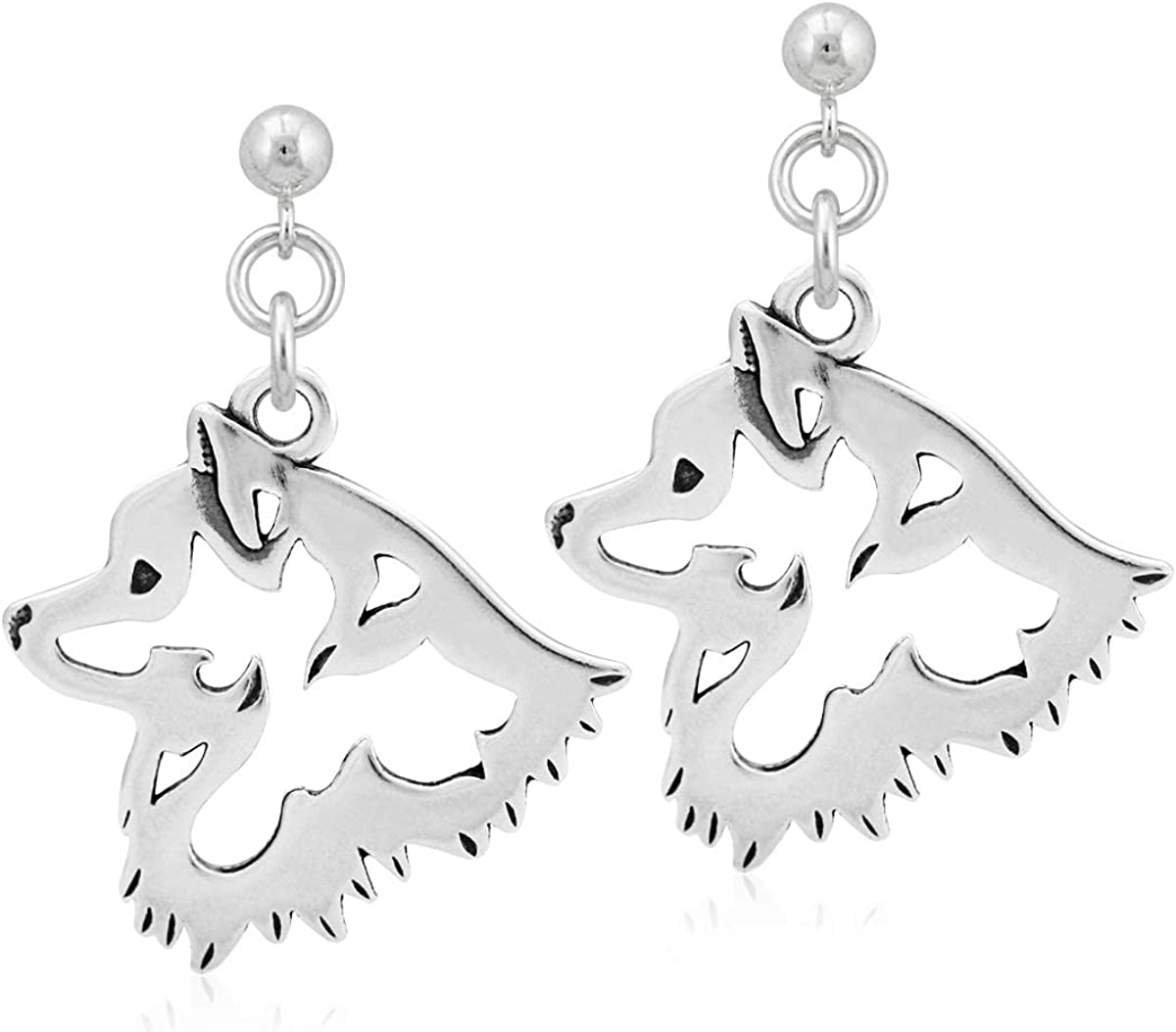 Max 48% OFF Sterling Silver Limited time trial price American Earrings Eskimo Head