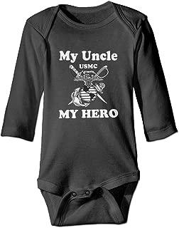 My Uncle My Hero Marine Corps Baby Organic Pajamas Organic Bodysuits