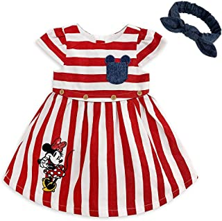 Disney Minnie Mouse Striped Dress Set for Baby, Size 6-9 Months