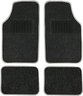 Big Hippo Carpet Floor Mats Universal Fit for Car, SUV, Vans, Sedans, Trucks - 4 Piece Driver Seat, Passenger Seat and Rear Floor Mats (Black)