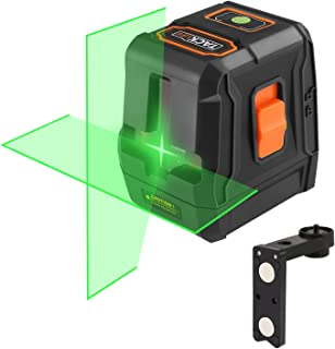 Tacklife SC-L07G Green Laser Level 98 Feet with Two Turn-on Ways, Self-Leveling Mode, Cross-Line Mode, Full Soft Rubber Covered, Magnetic Mount Base, Oxford Carrying Pouch, Battery Included