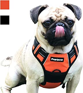 Papipaw No-Pull Adjustable Dog Harness with3M ReflectiveWaterproof Pet Harnesses for Small Medium Large Dogs