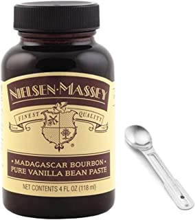 Nielsen-Massey Madagascar Bourbon Pure Vanilla Bean Paste, with Custom F.O.Y Measuring Spoon, 4 oz