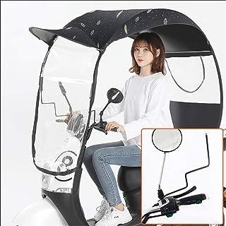 AXQQ Universele paraplu zonnescherm regenhoes, volledig ingesloten elektrische motorfiets paraplu luifel, universele motor...