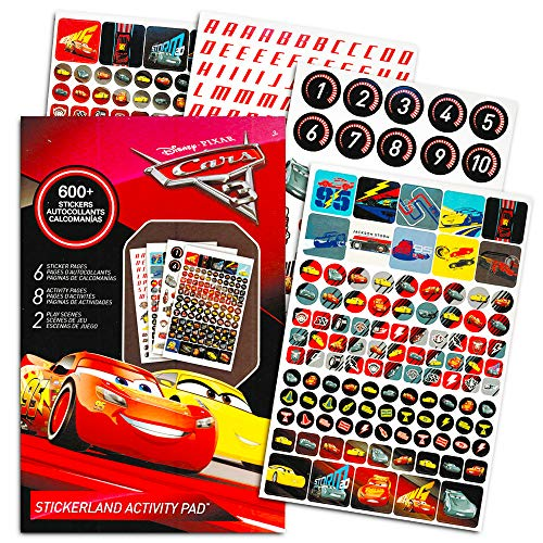 Disney Cars Stickers Party Favor Pack (624 Stickers)