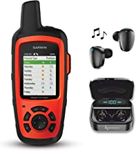 Garmin InReach Explorer+ Handheld Satellite Communicator with GPS Navigation, Maps, and Sensors 010-01735-10 and Wearable4U Black Earbuds Ultimate Charging Power Bank Case Bundle
