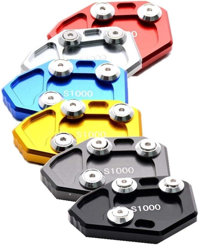Color : ZD B KANCK Motorrad-Anti-Rutsch-Fu/ß-St/änder CNC Seitenst/änder Seitenst/änder Platte Pad Bodenplatte for BMW S1000RR 2009-2016