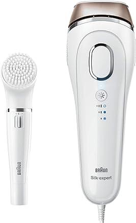 Braun 博朗Silk-expert IPL脉冲光脱毛仪器BD 5008, 永久脱毛,带面部清洁刷,白色/金色