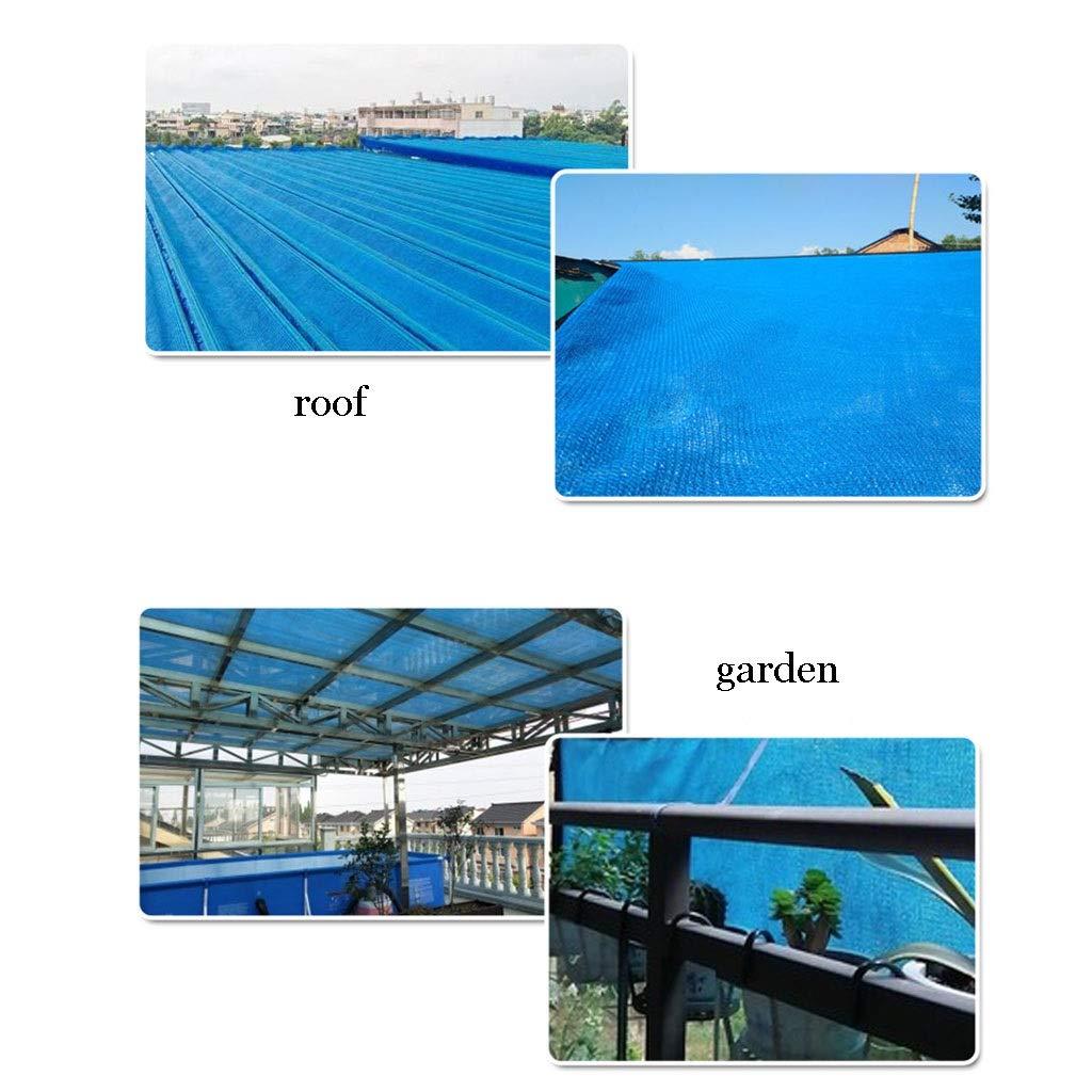 QFFL Malla Sombreo con Arandelas, para Exteriores Jardín Planta Flor Patio Pérgola, Engrosamiento de Encriptación, Tasa de Sombra 85% 8 Tamaño, Azul (Size : 4x5m/13x16ft): Amazon.es: Hogar