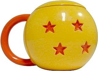 Dragon Ball Z, Molded Ceramic Mug with Lid, Orange Color, Set of 1, 16oz