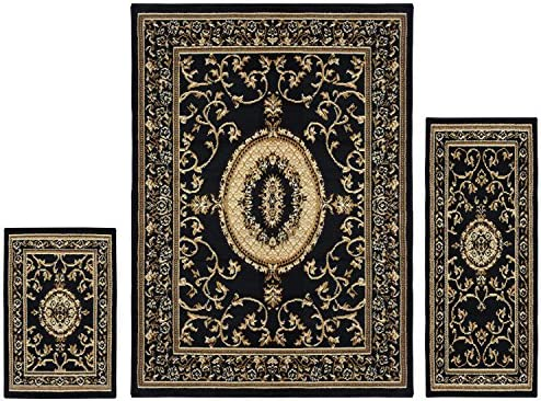 Superior Clementina Collection 3 Piece Rug Set Attractive Rugs with Jute Backing Durable and product image
