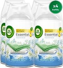 Airwick Freshmatic Autospray Refill, Crisp Linen & Lilac Scent - 4 Refills x 250ml (1000ml)